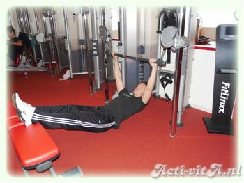 Weighted Supine Row